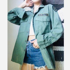 U.S. Army olive green military jacket